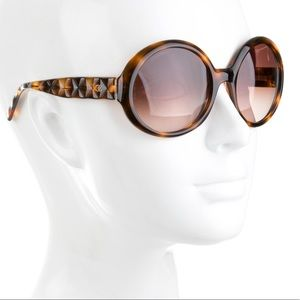 Chanel Round Quilted Brown Sunglasses